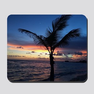 Beach Sunset Palm Tree Mousepad