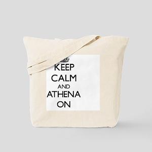 Keep Calm and Athena ON Tote Bag