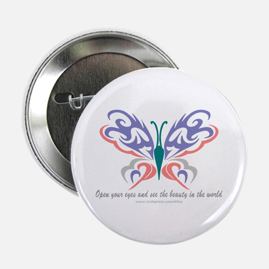 Butterfly Beauty Button