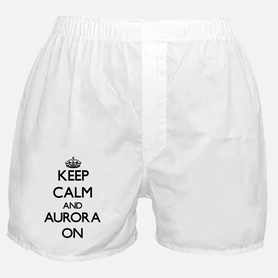 Keep Calm and Aurora ON Boxer Shorts