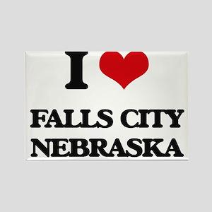 I love Falls City Nebraska Magnets