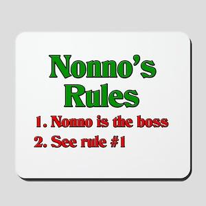 Nonno's Rules Mousepad