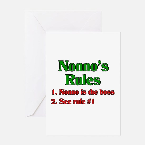 Nonno's Rules Greeting Card