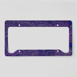 Purple Fanfair License Plate Holder