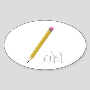 Cityscape Sketch Sticker