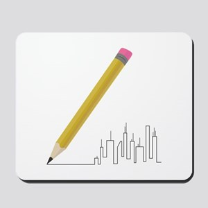 Cityscape Sketch Mousepad