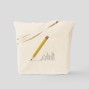 Cityscape Sketch Tote Bag