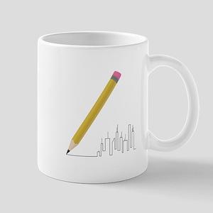 Cityscape Sketch Mugs