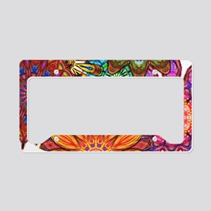 Funky Flowers License Plate Holder