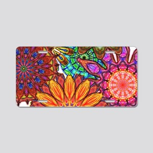 Funky Flowers Aluminum License Plate