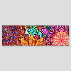 Funky Flowers Bumper Sticker