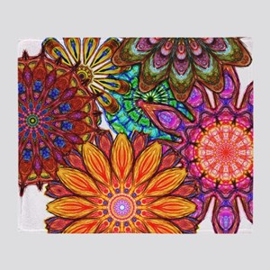 Funky Flowers Throw Blanket