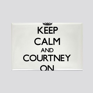Keep Calm and Courtney ON Magnets