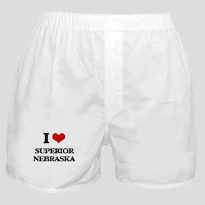 I love Superior Nebraska Boxer Shorts