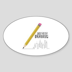 Just Keep Drawing Sticker