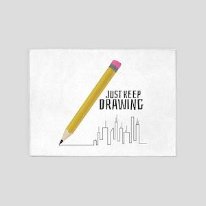 Just Keep Drawing 5'x7'Area Rug