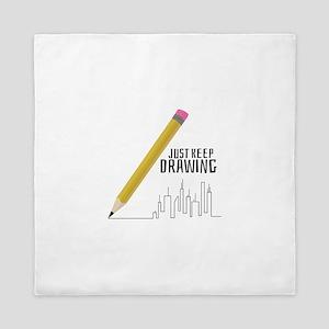 Just Keep Drawing Queen Duvet