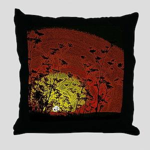 Bloody Sunrise Throw Pillow