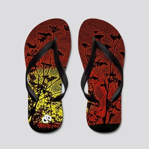 Bloody Sunrise Flip Flops