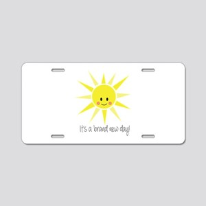 Brand New Day Aluminum License Plate