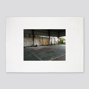 Basketball Court Art 5'x7'Area Rug