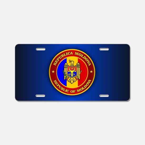 Moldova Medallion Aluminum License Plate
