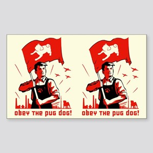 Pug Patriotism Rectangle Sticker