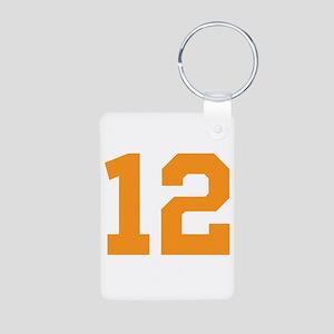12 ORANGE # TWELVE Aluminum Photo Keychain