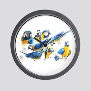 Blue and Gold Macaw Wall Clock
