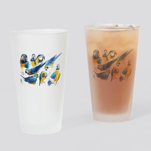 Blue and Gold Macaw Drinking Glass