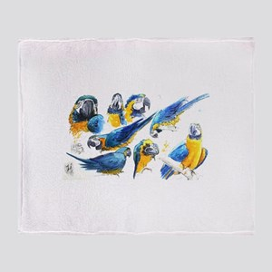 Blue and Gold Macaw Throw Blanket