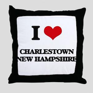 I love Charlestown New Hampshire Throw Pillow