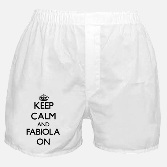 Keep Calm and Fabiola ON Boxer Shorts