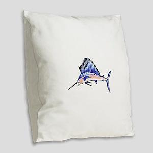 SAILFISH Burlap Throw Pillow