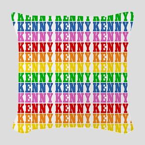 Rainbow Name Pattern Woven Throw Pillow