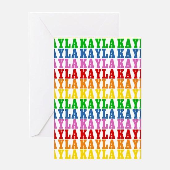 Rainbow Name Pattern Greeting Card