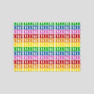 Rainbow Name Pattern 5'x7'Area Rug