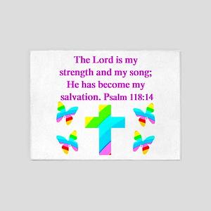 PSALM 118:14 VERSE 5'x7'Area Rug