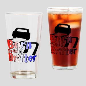 Born To Drift Drinking Glass