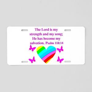 PSALM 118:14 VERSE Aluminum License Plate