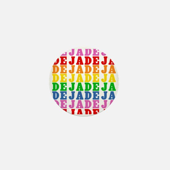 Rainbow Name Pattern Mini Button