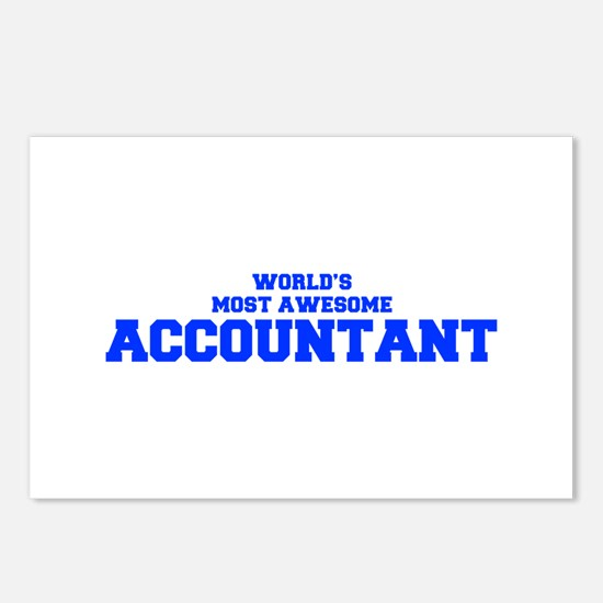 WORLD'S MOST AWESOME Accountant-Fre blue 600 Postc