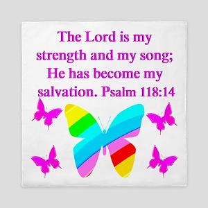 PSALM 118:14 VERSE Queen Duvet
