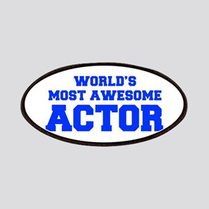 WORLD'S MOST AWESOME Actor-Fre blue 600 Patch