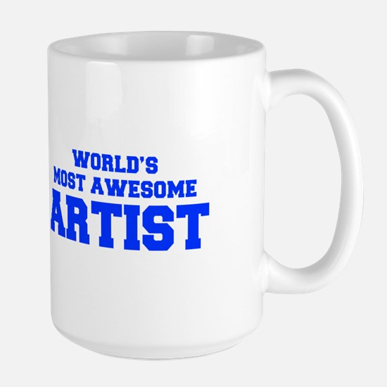 WORLD'S MOST AWESOME Artist-Fre blue 600 Mugs