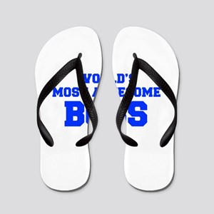 WORLD'S MOST AWESOME Boss-Fre blue 600 Flip Flops