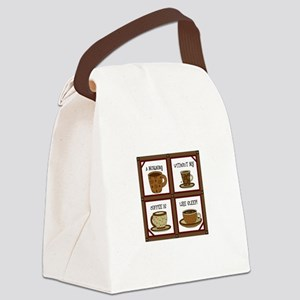 WITHOUT COFFEE APPLIQUE Canvas Lunch Bag