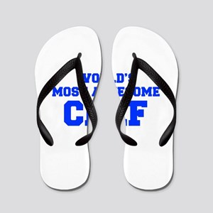 WORLD'S MOST AWESOME Chef-Fre blue 600 Flip Flops