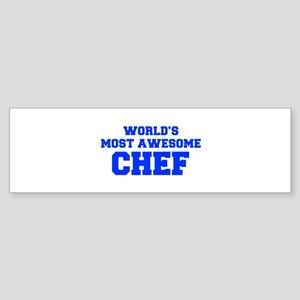 WORLD'S MOST AWESOME Chef-Fre blue 600 Bumper Stic