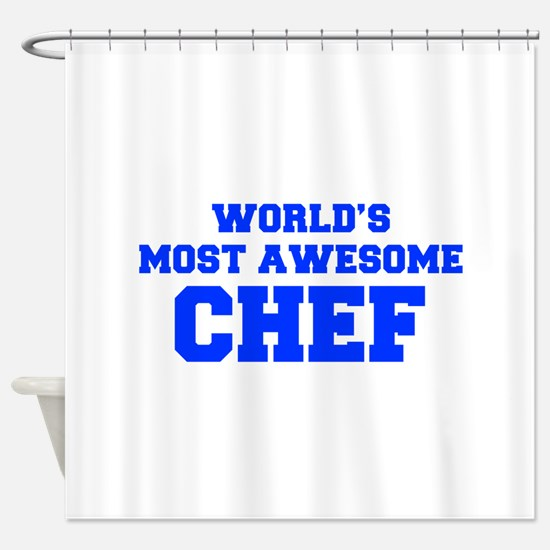 WORLD'S MOST AWESOME Chef-Fre blue 600 Shower Curt